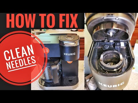 HOW TO FIX KEURIG K-DUO Coffee Maker Not Working  CLEAN NEEDLES Paperclip