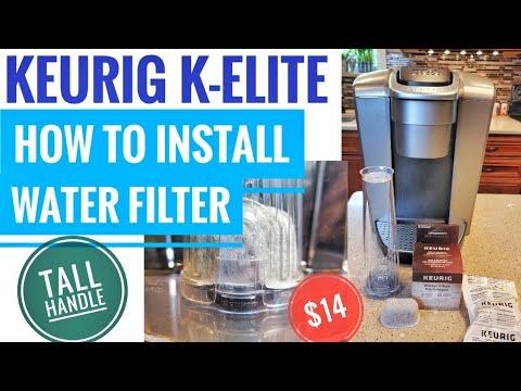 Keurig Water Filter Cartridge Installation K-Elite Coffee Maker K Cup Better Tasting Coffee How To