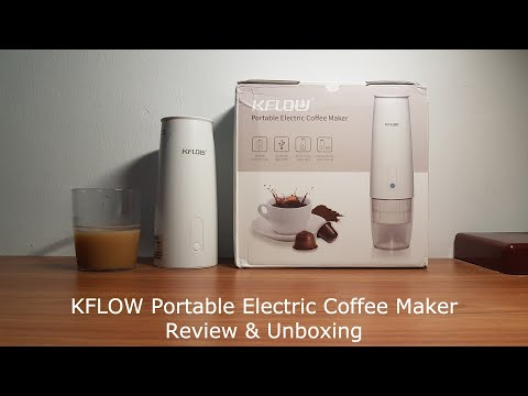 KFLOW Automatic Portable Coffee Maker [Review & Unboxing]