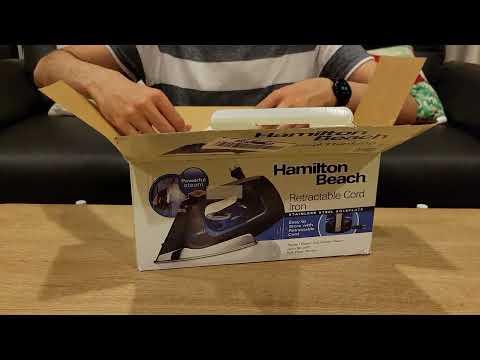 Hamilton Beach Retractable Cord Iron – Model 14290