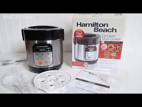 Hamilton Beach Compact Multi Cooker Unboxing – 1.5 Quart Mini Instant Pot