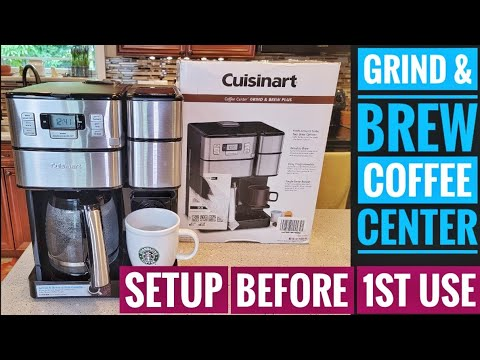 SETUP Cuisinart 12 Cup Coffee Center Grind & Brew Plus K Cup Machine SS-GB1