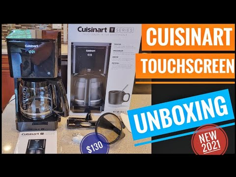 UNBOXING Cuisinart 14 Cup Programmable Touchscreen Coffee Maker DCC-T20 NEW 2021