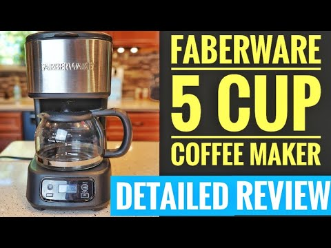 DETAILED REVIEW  Farberware 5 Cup Programmable Coffee Maker HOW TO MAKE COFFEE