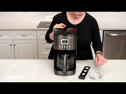 Cuisinart®   How to prep the charcoal water filter before using your coffeemaker!