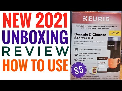 UNBOXING Keurig Descale & Cleanse Starter Kit $5.00 REVIEW & HOW TO USE New 2021