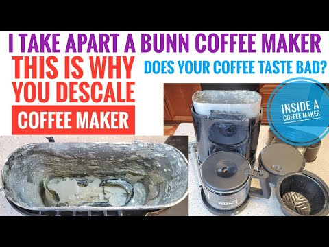 LOOK INSIDE BUNN COFFEE MAKER NHS VELOCITY SPEED BREW How to Take apart  WHY IS DESCALING IMPORTANT?