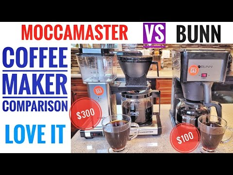 Technivorm MoccaMaster VS Bunn Speed Brew Coffee Maker Side By Side Comparison