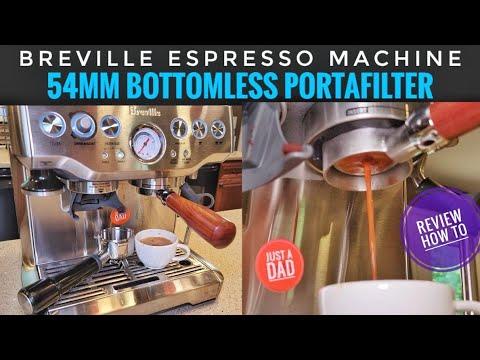 REVIEW Breville Barista Express Espresso Machine Bottomless 54mm Portafilter