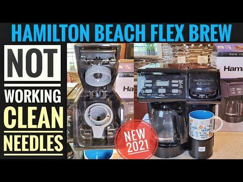 HOW TO FIX Hamilton Beach FlexBrew Trio Coffee Maker K-Cup CLEAN NEEDLES REPAIR