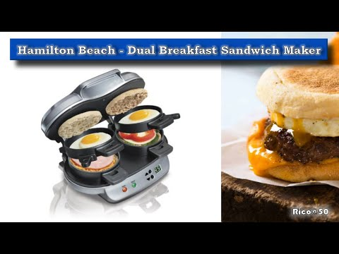 Tech Time: Testing the Hamilton Beach Dual Breakfast Sandwich Maker     First Time Use and Review!