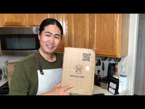 Live Unboxing ROK Espresso Machine and Grinder