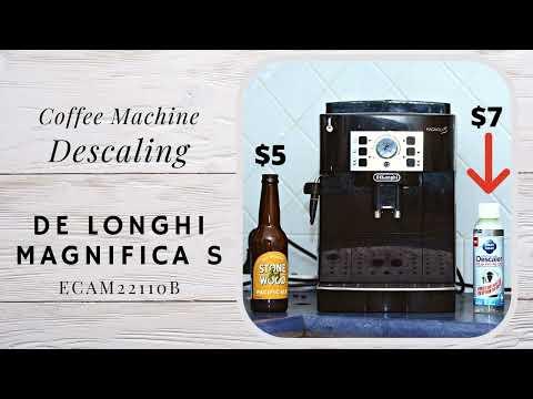 How to descale your Coffee Machine DeLonghi Magnifica S ECAM22.110