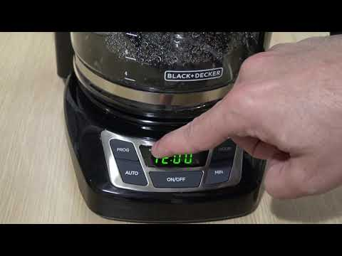 How to Use a Black & Decker Coffemaker – Programmable Timer