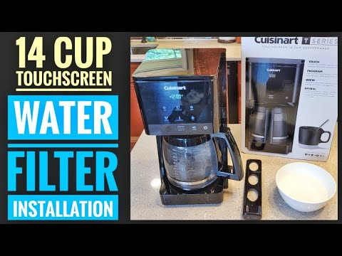 How To Install Water Filter Cuisinart 14 Cup Touchscreen Coffee Maker DCC-T20