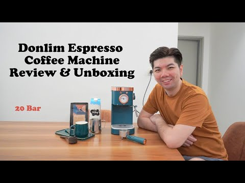 DONLIM Coffee Espresso Machine Unboxing and Review