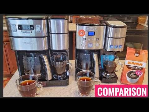 Cuisinart Grind and Brew Plus 12 Cup Coffee Maker VS Coffee Center Single Serve Brewer Comparison