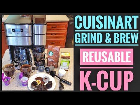 REUSABLE K CUP Cuisinart SS-GB1 Grind & Brew Plus Coffee Maker K Cup Single Serve  Machine