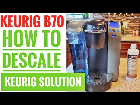 HOW TO DESCALE WITH KEURIG DESCALING SOLUTION Keurig B70 Platinum Brewing System K-Cup Coffee Maker