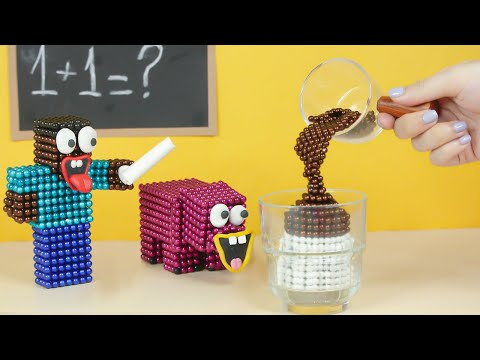 Monster School: Dalgona Coffee Recipe in Minecraft | Asmr Stop Motion & Satisfying With Magnet Balls