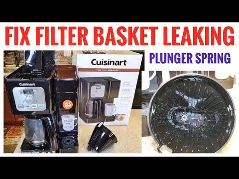 Fix Filter Basket Leaking Cuisinart SS-12 Coffee Center Brew Basics Coffee Maker Plunger Spring