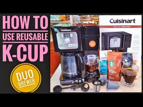 HOW TO USE REUSABLE K-CUP Cuisinart Coffee Center Brew Basics 12 Cup Coffee Maker SS-12
