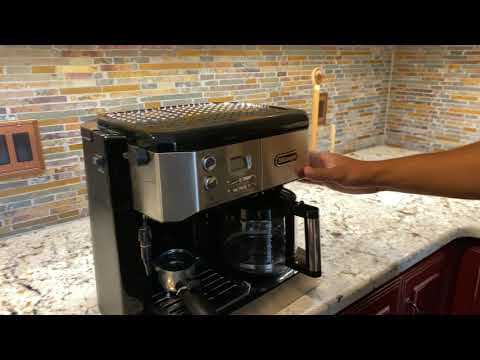 Delonghi Combination Drip Coffee, Espresso, Cappuccino and Latte Maker How to fill water and turn on