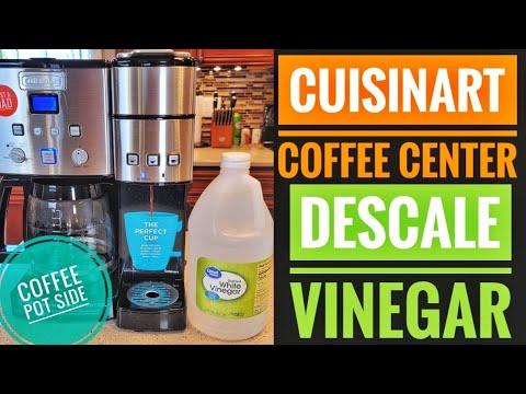 DESCALE Cuisinart Coffee Center 12 Cup Coffeemaker Single Serve Brewer SS-15 CLEAN COFFEE MAKER SIDE